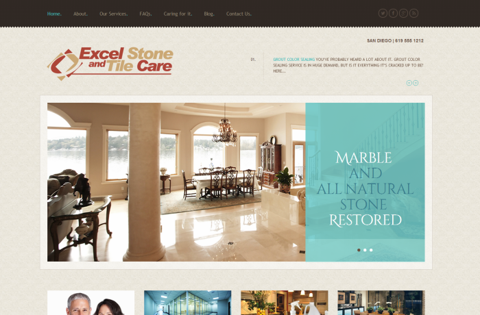 Excel Stone and Tile Care Web Design