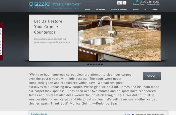 Dazzle Stone and Fiber Care
