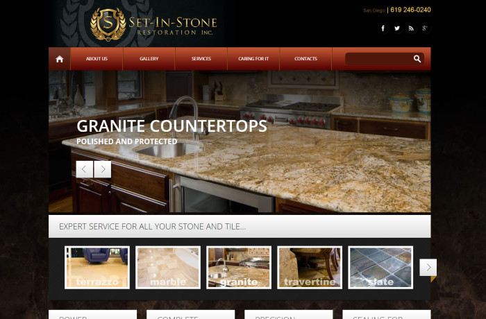 Set In Stone Restoration Web Design